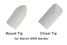 Indiana Stamp sells replacement tips for Marsh M99 Markers. Lengthen the life of your markers!