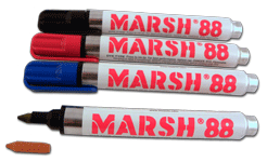 M88 Industrial Dye Type Markers for bold, fast dry, waterproof, fade-resistant marks on most surfaces. Economical choice, long-lasting, dependable marker.