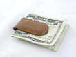 Custom engraved genuine leather money clips are available at Indiana Stamp in Fort Wayne, Indiana.