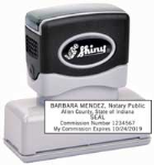 Indiana Stamp sells many notary products, including custom pre-inked stamps, at competitive prices.