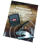 Save over $20 with our 3-piece Notary Kit! Includes a custom Embossing Seal, custom Stamp with Seal and Commission info, and Professional Notary Records Book.
