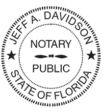 Notary Public Seal Imprint