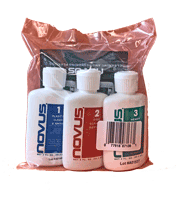 For a professional finish, use Novus Plastic Polishing Kit with No. 1, 2, 3. Clean & Repair plastic on sneeze guards, plastic barriers, & more. Leaves a clear shine.