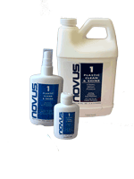 For a professional finish, use Novus No. 1 Clean & Shine on all plastics. No scratching & leaves a clear shine that resists fogging, repels dust, eliminates static.