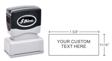 High quality Shiny Premier EA-105 stamps make stamping simple. Design and order your custom stamp online today. Fast shipping!