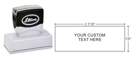 High quality Shiny Premier stamps make stamping simple. Design and order your custom stamp online today. Fast shipping!