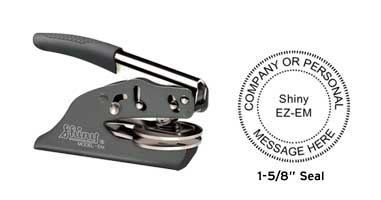 """High quality Shiny Deluxe Pocket Embosser without the high price. Emboss your custom business or personal 1-5/8"""" seal on documents and stationary."""