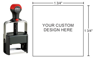 Shiny H-6005 Heavy Duty Self-Inking stamp for durability. Plastic and metal construction create a high quality rubber stamp for tough jobs. Order online!