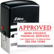 Indiana Stamp sells the complete line of Shiny hand stamps, including the S-829 self-inking hand stamp.