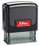 Indiana Stamp sells the complete line of Shiny brand stamps, including Shiny S-853 self-inking hand stamps.