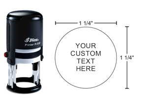 Indiana Stamp carries the complete line of Shiny brand stamps, including this round R-532 self-inking hand stamp.