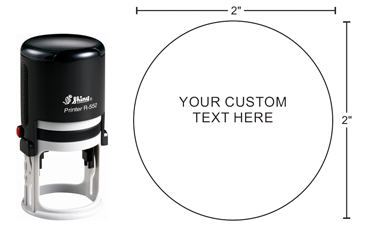 Indiana Stamp carries the complete line of Shiny brand stamps, including the Shiny R-552, which is round self-inking stamp is perfect for notaries, architects, engineers or corporate seals