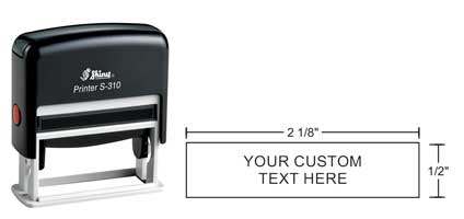 Indiana Stamp sells the complete line of Shiny brand hand stamps, including the Shiny S-310 self-inking hand stamp.