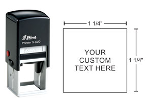 Indiana Stamp carries the full line of Shiny brand stamps, including the S-530 square self-inking hand stamp.