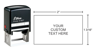 Indiana Stamp sells the complete line of Shiny brand products, including Shiny S-827 self-inking stamps.