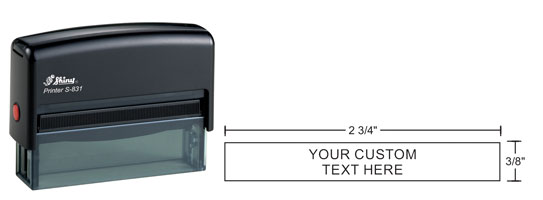 Indiana Stamp sells Shiny s-831 self-inking rubber hand stamps at competitive prices.