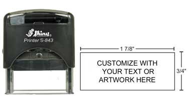 24478 SHINY S-843 - Shiny S-843 Self-Inking Stamp
