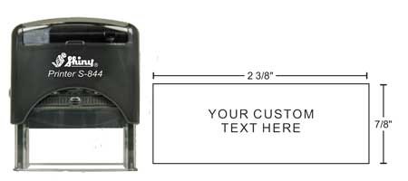 24482 Shiny S-844 Self Inking Stamp is great for address stamps, check deposit stamps (FDO stamps), or custom character stamps. Up to 5 lines of text.