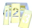 "Brass Stencil Figure Sets with 1-1/2"" Numbers are durable, reusable, inter-locking, and perfect for industrial, office, and home applications and projects."