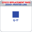 Indiana Stamp sells replacement pads for many brands, including Cosco Printer Q-17s.