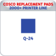 Indiana Stamp sells replacement pads for many brands, including Cosco Printer Q-24S.