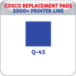 Indiana Stamp sells replacement pads for many brands, including Cosco Printer Q-43S.